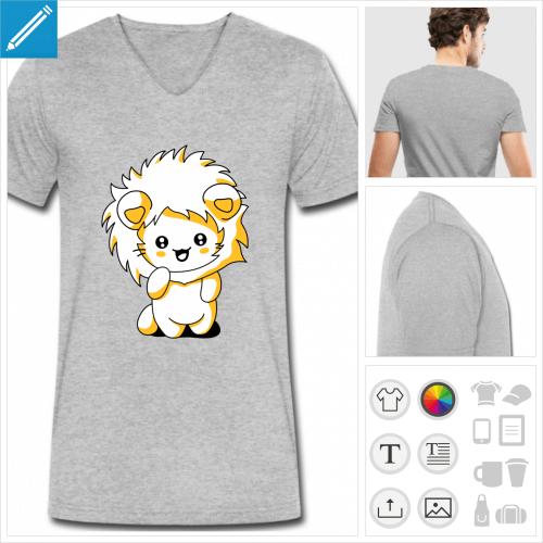 t-shirt simple chat à personnaliser en ligne