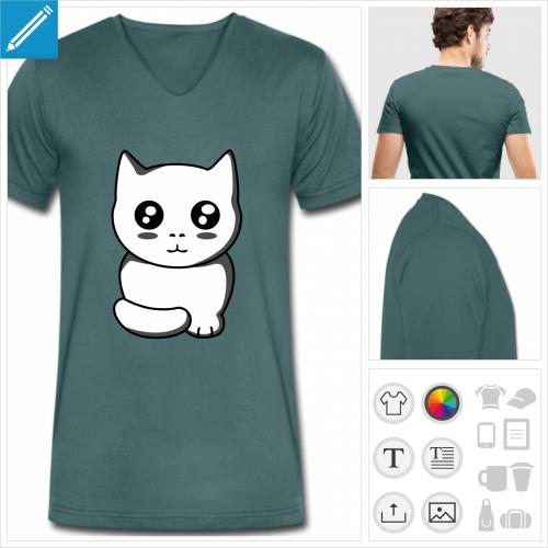 t-shirt chaton kawaii à personnaliser