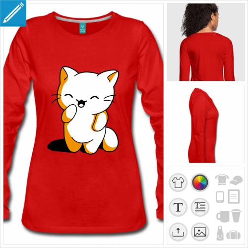 t-shirt chaton à imprimer en ligne