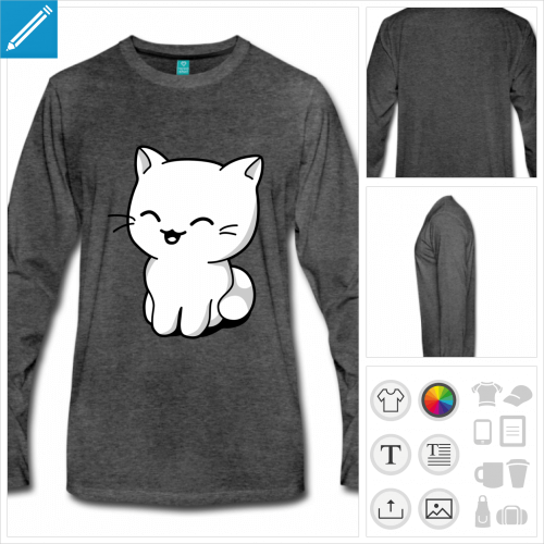 t-shirt chaton personnalisable