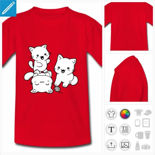 t-shirt enfant chatons à personnaliser et imprimer en ligne