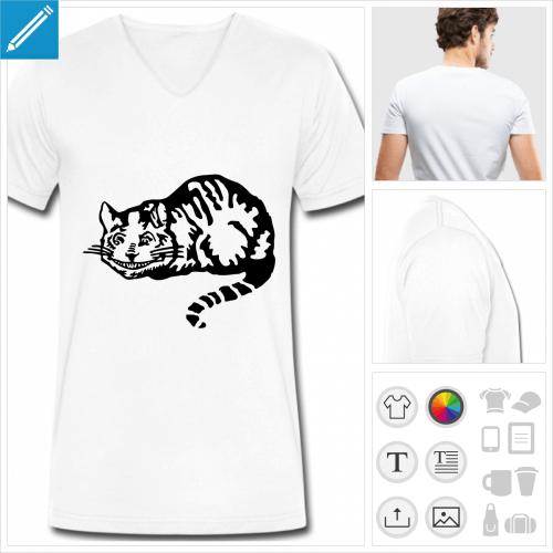 t-shirt chat à personnaliser