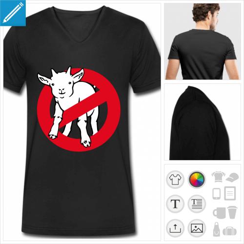 t-shirt noir ghostbuster à créer soi-même