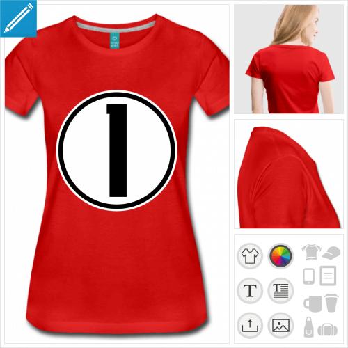 t-shirt Numéro 1 personnalisable, impression à l'unité