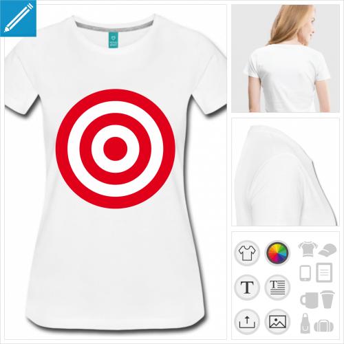 t-shirt simple cible rouge à créer en ligne