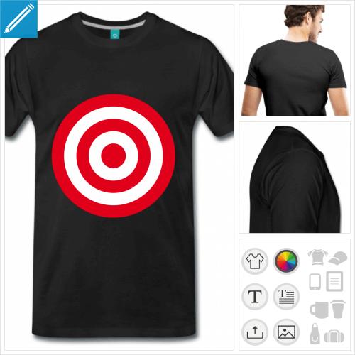 t-shirt cible ronde à créer en ligne