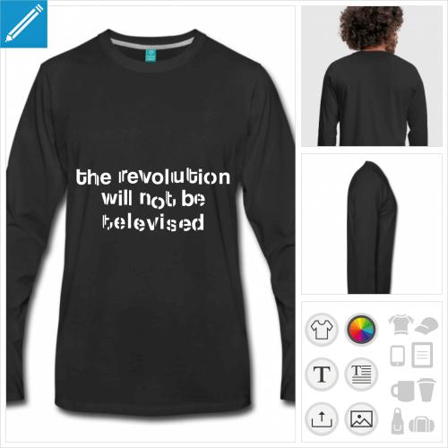 t-shirt révolution personnalisable, impression à l'unité