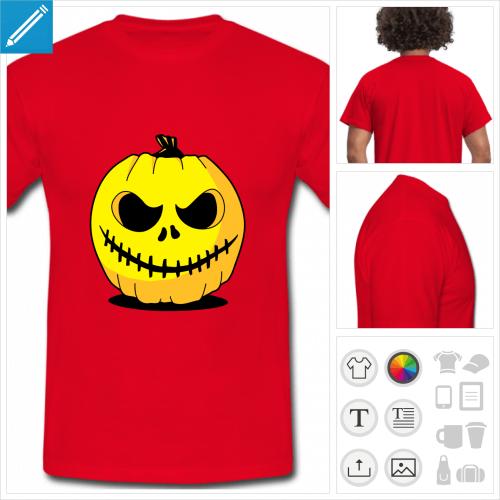 t-shirt citrouille à imprimer en ligne
