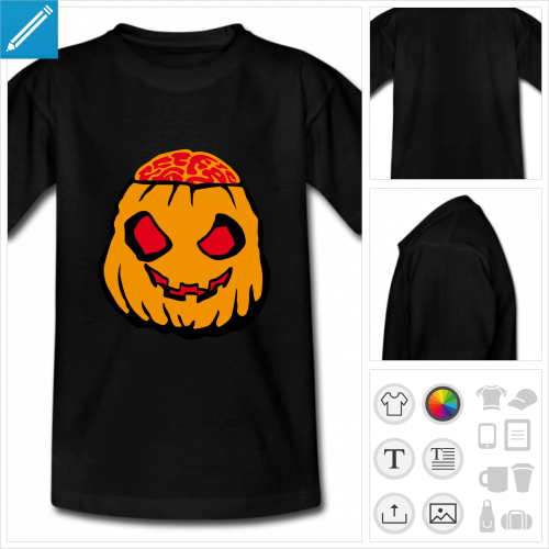 t-shirt adolescent halloween personnalisable