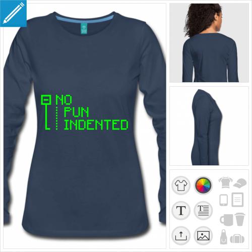 t-shirt code personnalisable