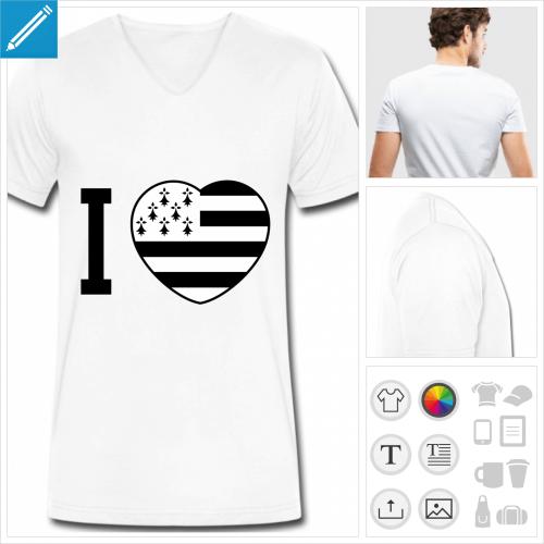 t-shirt homme bretagne à créer en ligne