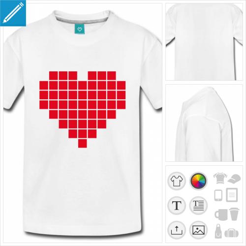 t-shirt basic coeur à créer soi-même