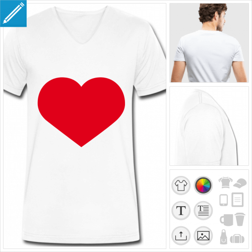 tee-shirt I love personnalisable