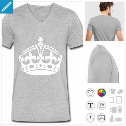 t-shirt manches courtes keep calm à personnaliser en ligne