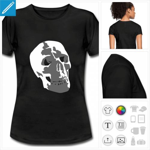 t-shirt crâne à personnaliser