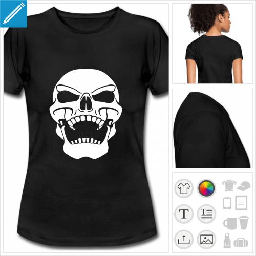 t-shirt simple tête de mort à créer soi-même