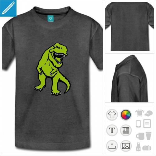 tee-shirt dinosaure à personnaliser et imprimer en ligne