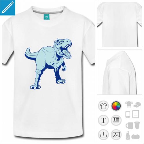 t-shirt adolescent dinosaure à créer soi-même