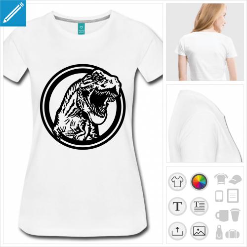 t-shirt dinosaure à créer en ligne