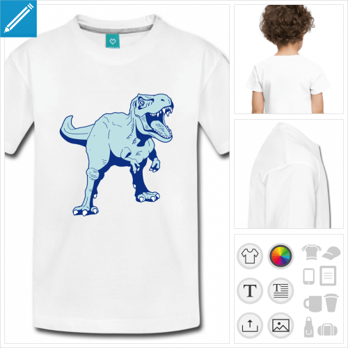 t-shirt blanc simple tyrannosaure à personnaliser