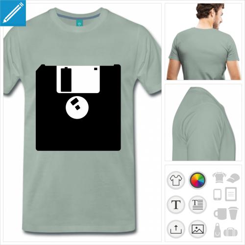t-shirt ordinateur à créer en ligne