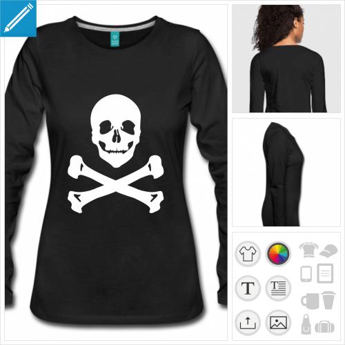 t-shirt pirate os croisés à créer soi-même