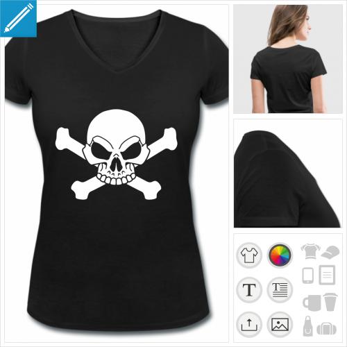 t-shirt femme pirate à imprimer en ligne