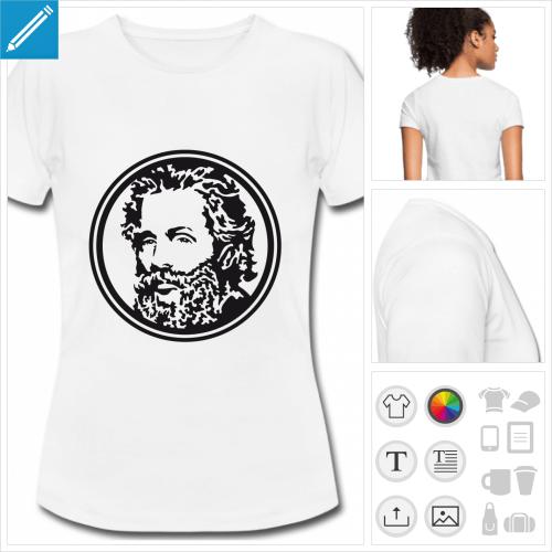 t-shirt femme Herman Melville à personnaliser