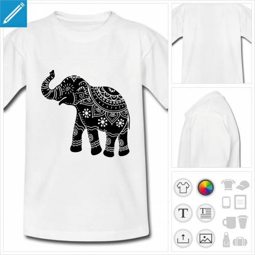 t-shirt simple éléphant à créer soi-même