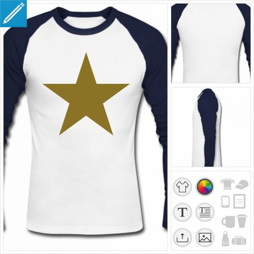 t-shirt étoile à personnaliser en ligne