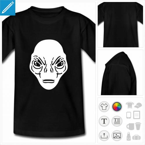 t-shirt simple alien à personnaliser en ligne