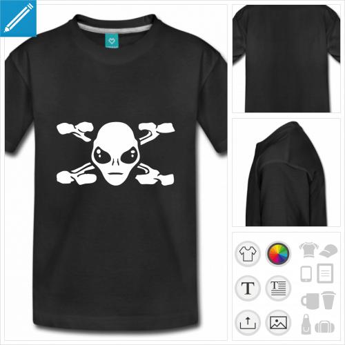 t-shirt ado alien à imprimer en ligne