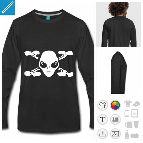 t-shirt extraterrestre à personnaliser et imprimer en ligne