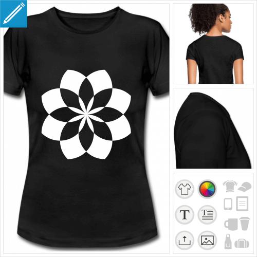 t-shirt basique lotus à imprimer en ligne