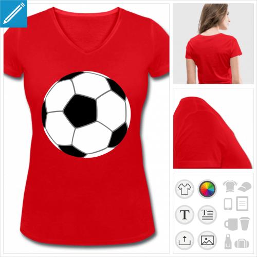 t-shirt femme football à créer en ligne