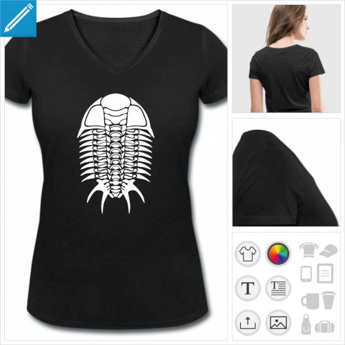 t-shirt simple trilobite à créer en ligne