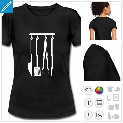 t-shirt blanc grill à créer en ligne