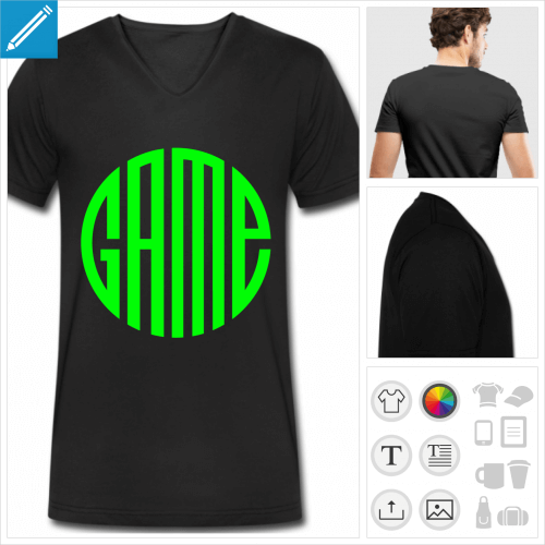 t-shirt manches courtes video games à imprimer en ligne
