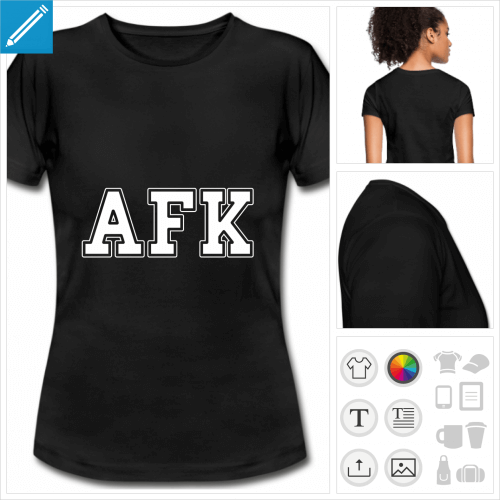 t-shirt simple afk à personnaliser en ligne