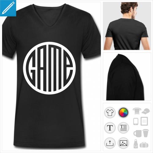 t-shirt game personnalisable, impression à l'unité