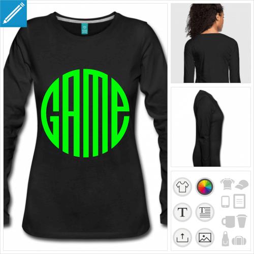 t-shirt gamer à personnaliser en ligne