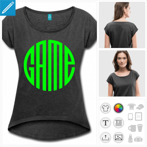 t-shirt video games à imprimer en ligne
