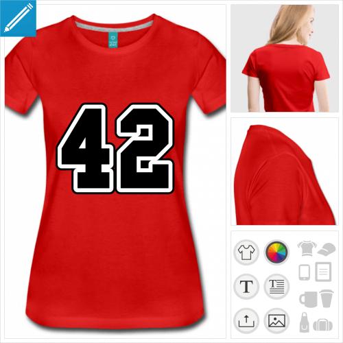t-shirt manches courtes h2g2 à personnaliser