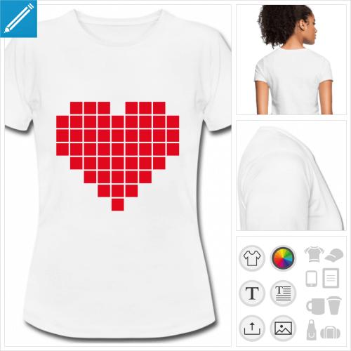 t-shirt femme geek à créer soi-même