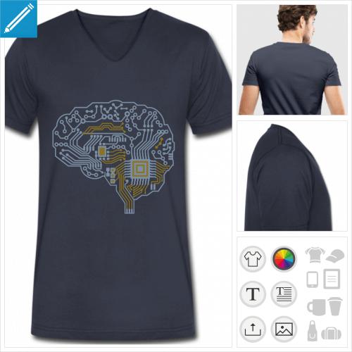 t-shirt geek à personnaliser et imprimer en ligne