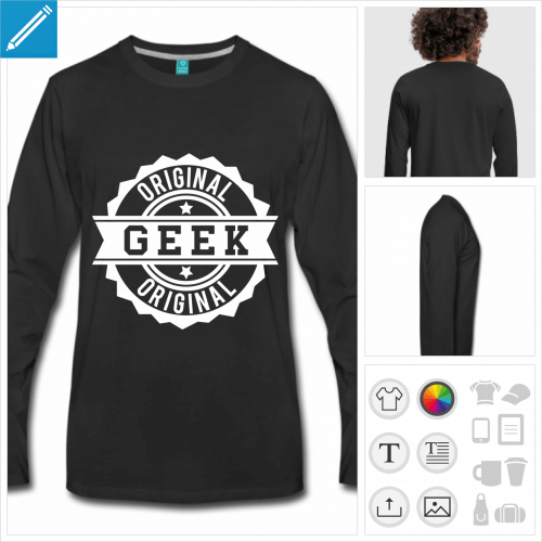 t-shirt geek original à personnaliser, impression unique