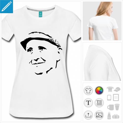 T-shirt Gertrude Stein, portrait de l'écrivaine.
