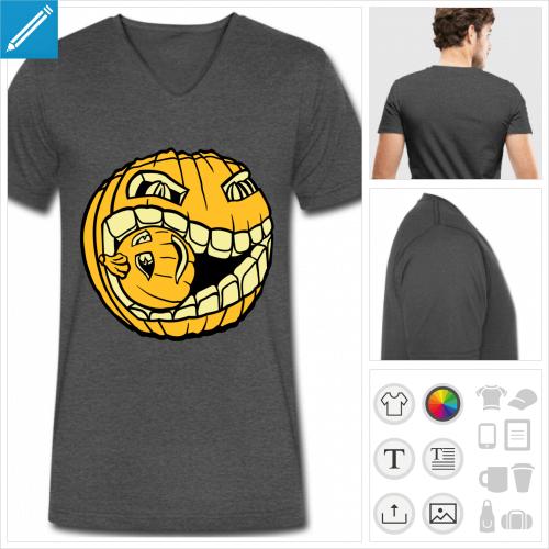t-shirt pour homme citrouille à personnaliser en ligne