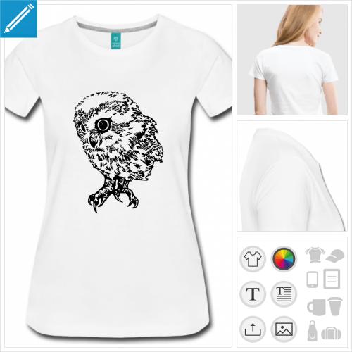 tee-shirt chouette à créer en ligne