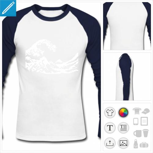 t-shirt manches longues pixel art à personnaliser en ligne
